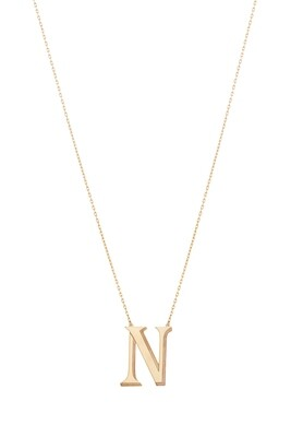 Love Roulette Gold Necklace Letter N