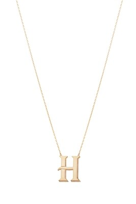 Love Roulette Gold Necklace Letter H
