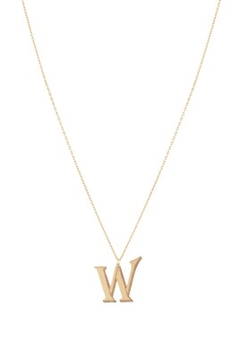 Love Roulette Gold Necklace Letter W