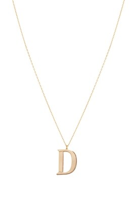 Love Roulette Gold Necklace Letter D