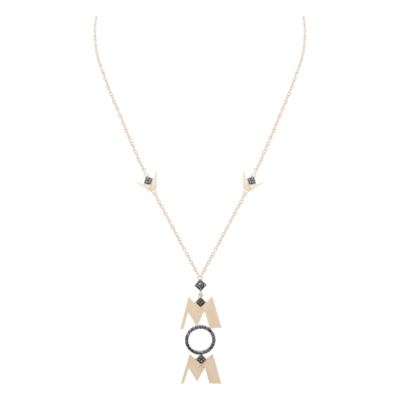 MOM Gold Necklace with Fancy Diamond