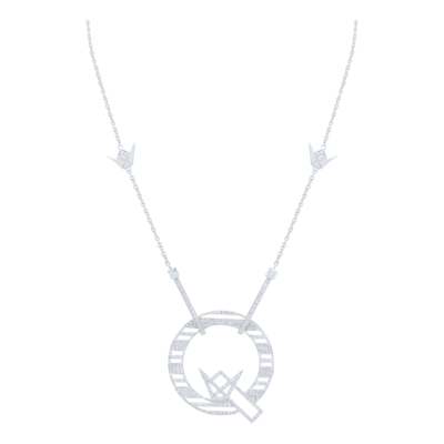 Q Necklace White Gold and Diamond