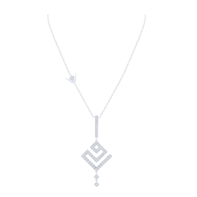 Necklace White Diamond For Mother's Day