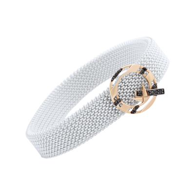 Q Bracelet Gold with Fancy Diamond on Stainless