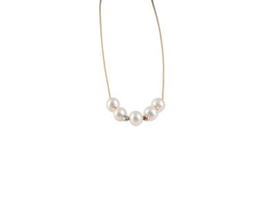 Eternal Necklace Gold with Pearls