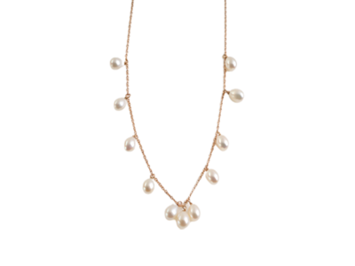 Eternal Gold Necklace with Pearls