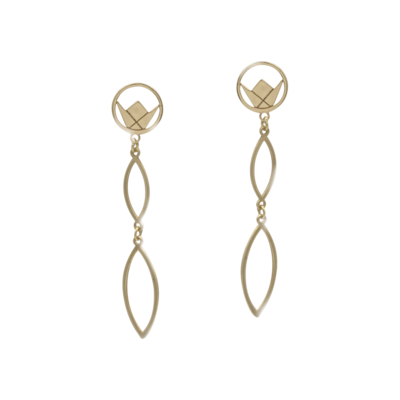 Emblem Gold Earrings