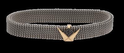 Emblem Fancy Diamond Stainless Bracelet