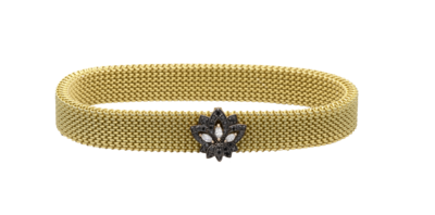 Lotus Bracelet with Fancy Diamond and Marquise