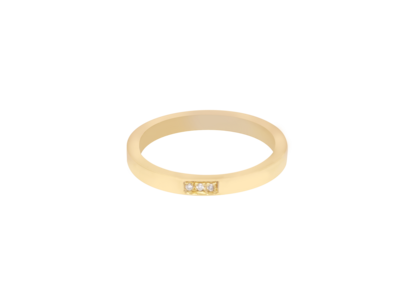 Engagement Gold Ring With White Diamond