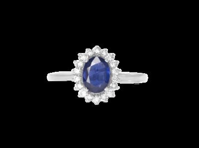 Eternal Diamond Ring with Sapphire