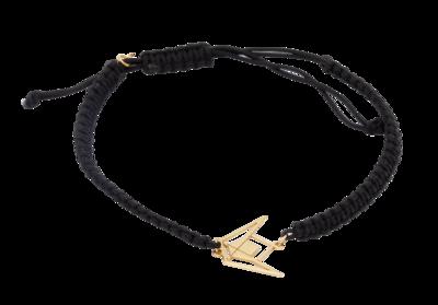Emblem Gold Bracelet with Shamballa