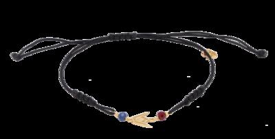 Emblem Gold Shamballa Bracelet with Colored Stones