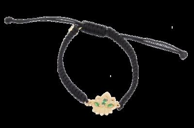 Lotus Gold Shamballa Bracelet with Colored Stones