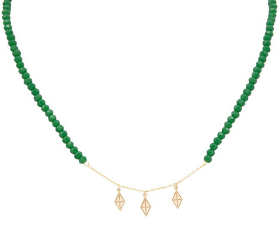 Eternal Gold Necklace with Colored Stones