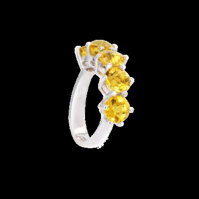 Bridal Ring with Semi Precious Stones