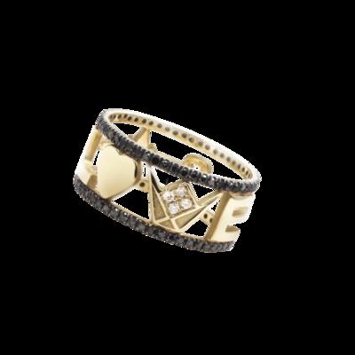 Wedding Band Gold with Diamond