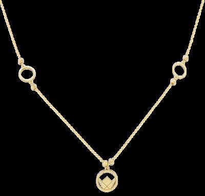 Emblem Necklace Yellow Gold