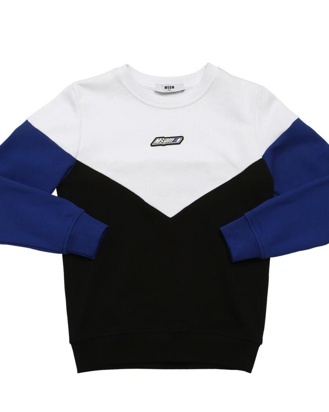 MSGM Color Block Sweatshirt