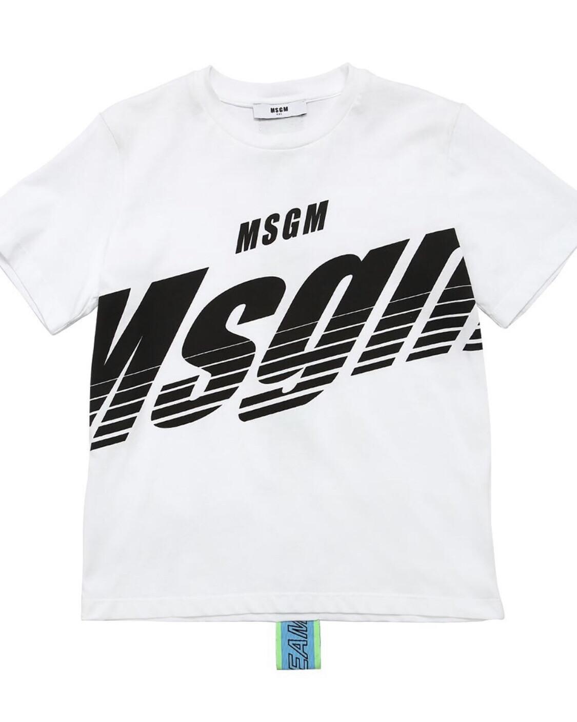 MSGM Back Band T-Shirt