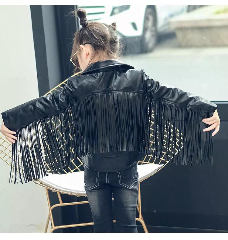 The Fringed Faux Leather Jacket