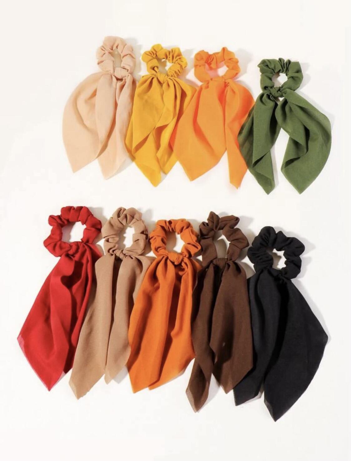 Scarf hair tie set (9 pieces)