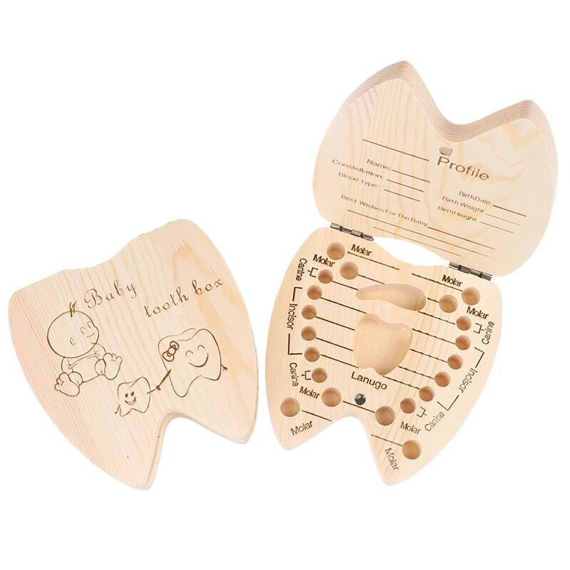 Memory Baby Teeth Wooden Box