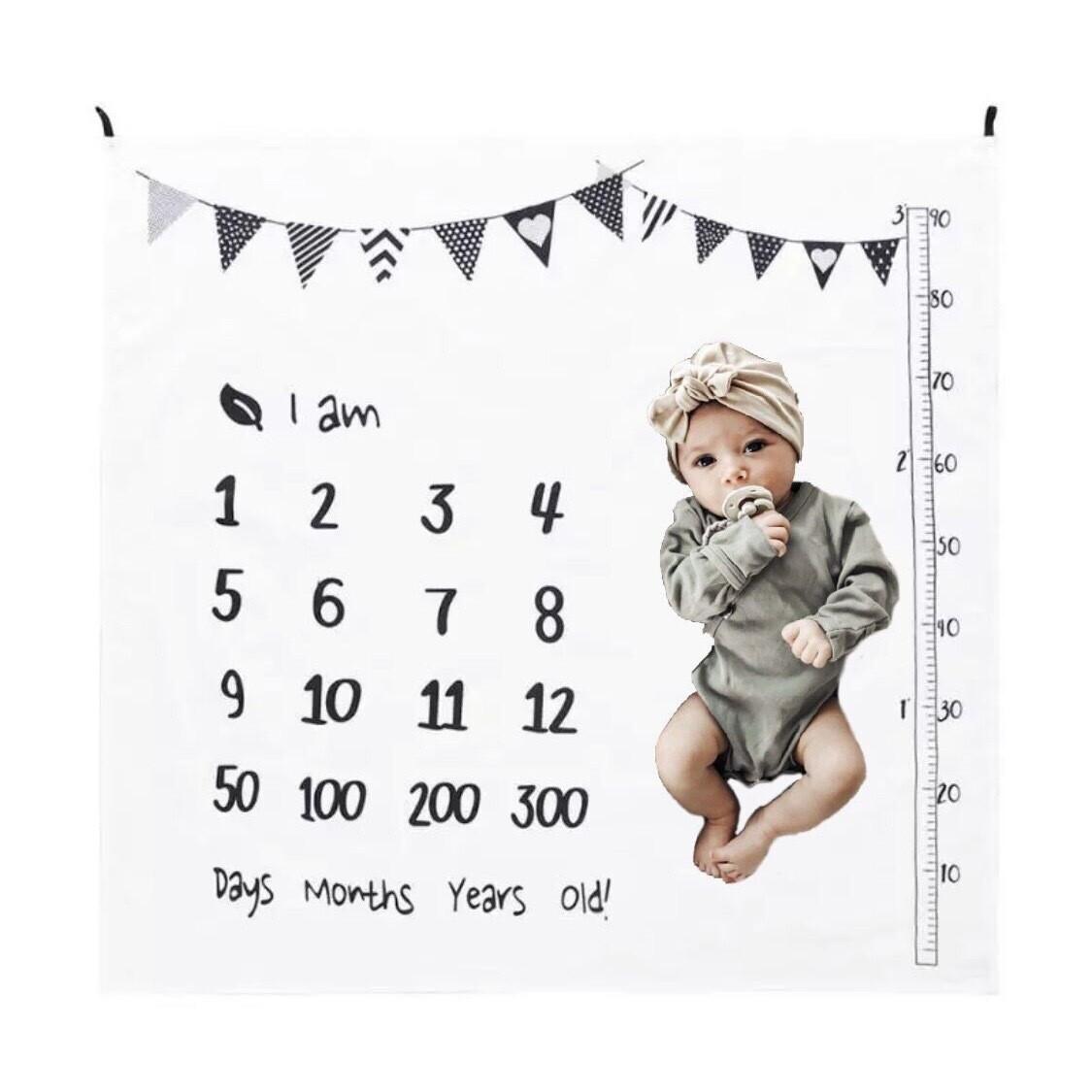 Baby Milestone Rug Photoshoot Flags