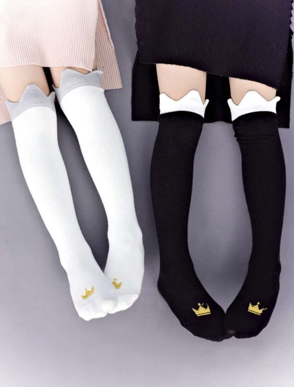 Crown Knee High Socks