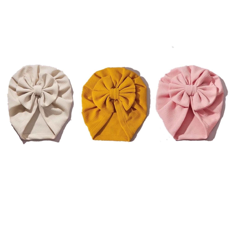 The Bow Turban Set (3 Pieces)