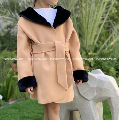 Wool Fur Wrap Coat