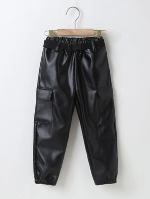 Buckled Leather Pants