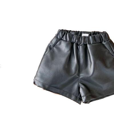Plain Leather Shorts