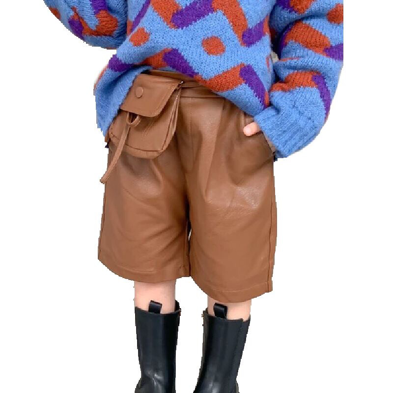 Bag Belted Leather Shorts