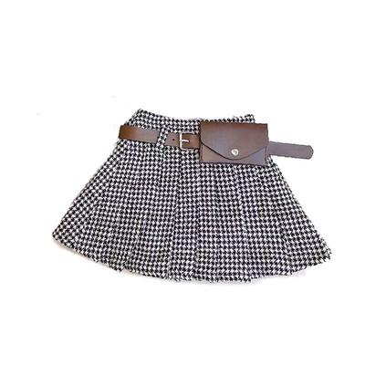 Waist Bag Belted Wool Skirt