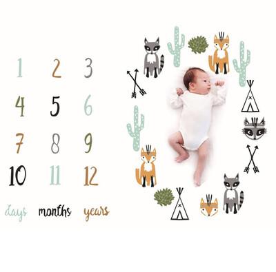 Baby Milestone Rug Photoshoot Animals