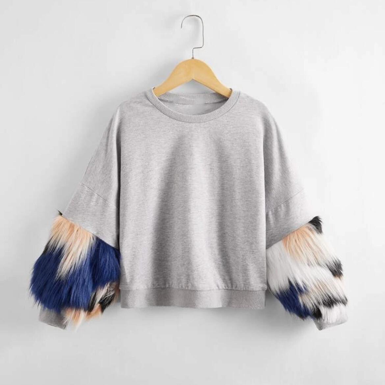 Furry Sleeves Sweater