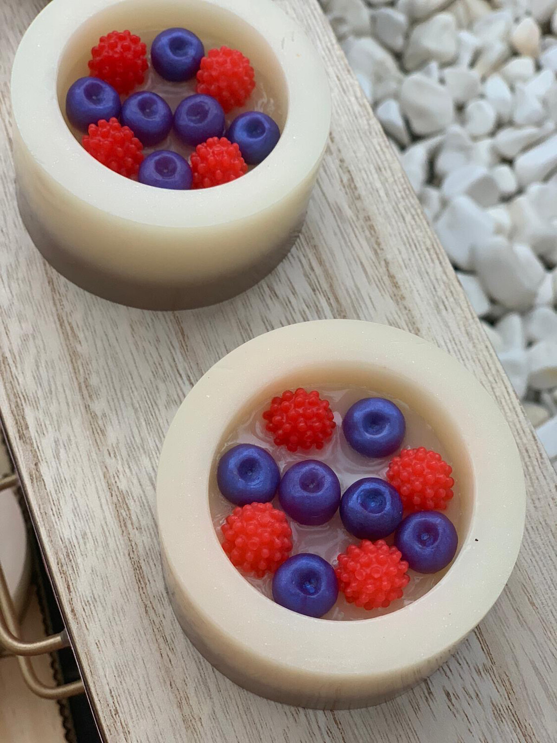 Rasberry cheesecake soap with Shea butter base