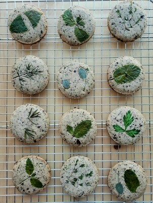 Mint Infused Honey and Dark Chocolate Cookies