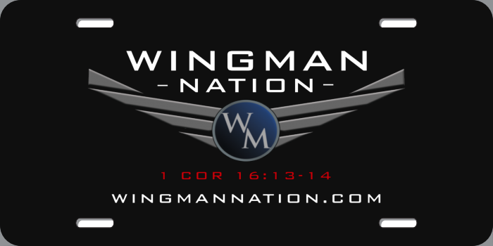 Wingman Nation License Plate