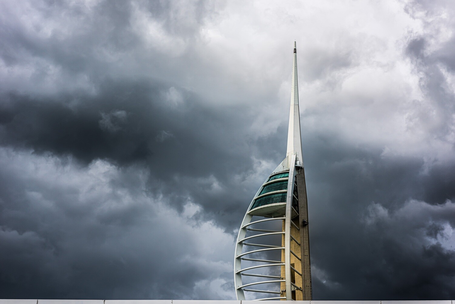 """Emirates Spinnaker Tower Portsmouth - 12"""" x 8"""" in a black 16"""" x 12"""" mount"""