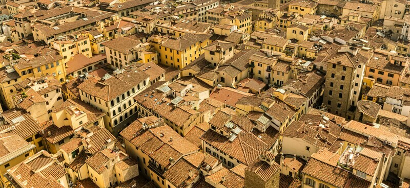 Florence skyline Tuscany - A3 print in a black 20