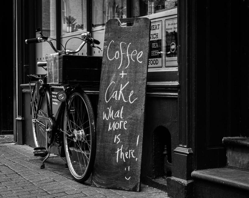 Coffee Shop bike and sign - 10
