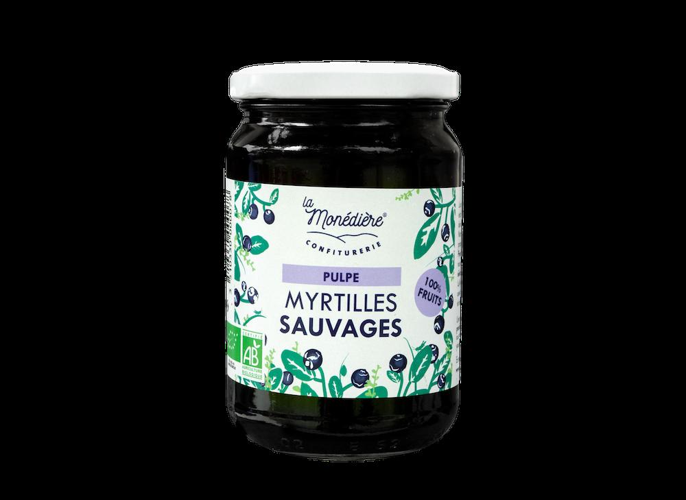 Pulpe 100% Myrtilles sauvages 270g