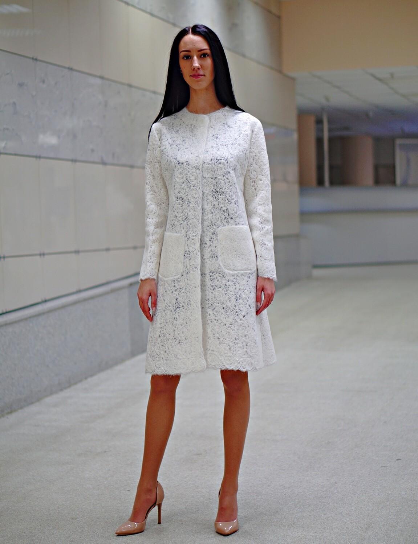Легкий ажурный кардиган «Белое солнце»
