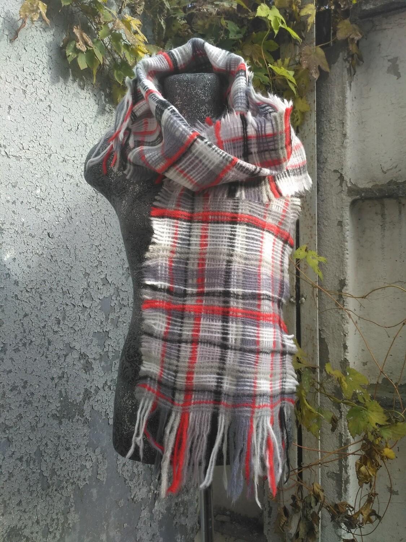 Мужской шарф в клетку, унисекс