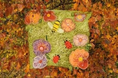 Детский плед - коврик «Летняя полянка»