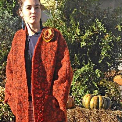 Легкое шерстяное пальто