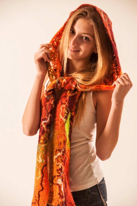 """Капюшон-шарф  """"Осень"""""""