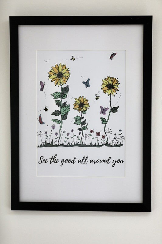 'See The Good All Around You' Framed Print